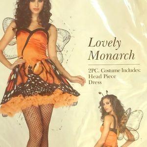Woman's Lovely Monarch Butterfly Costume  w/Wings